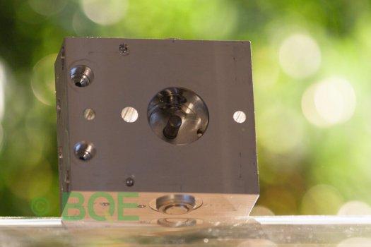 Skoda ABS/ESP ATE Mk60, Artnr: 10096003553, 1K0907379Q, 10020601804, 1K0614517M, Felkod: 01435, Bromstryckgivare G201, Hydraulblock, Vy: snett mot pumpsida