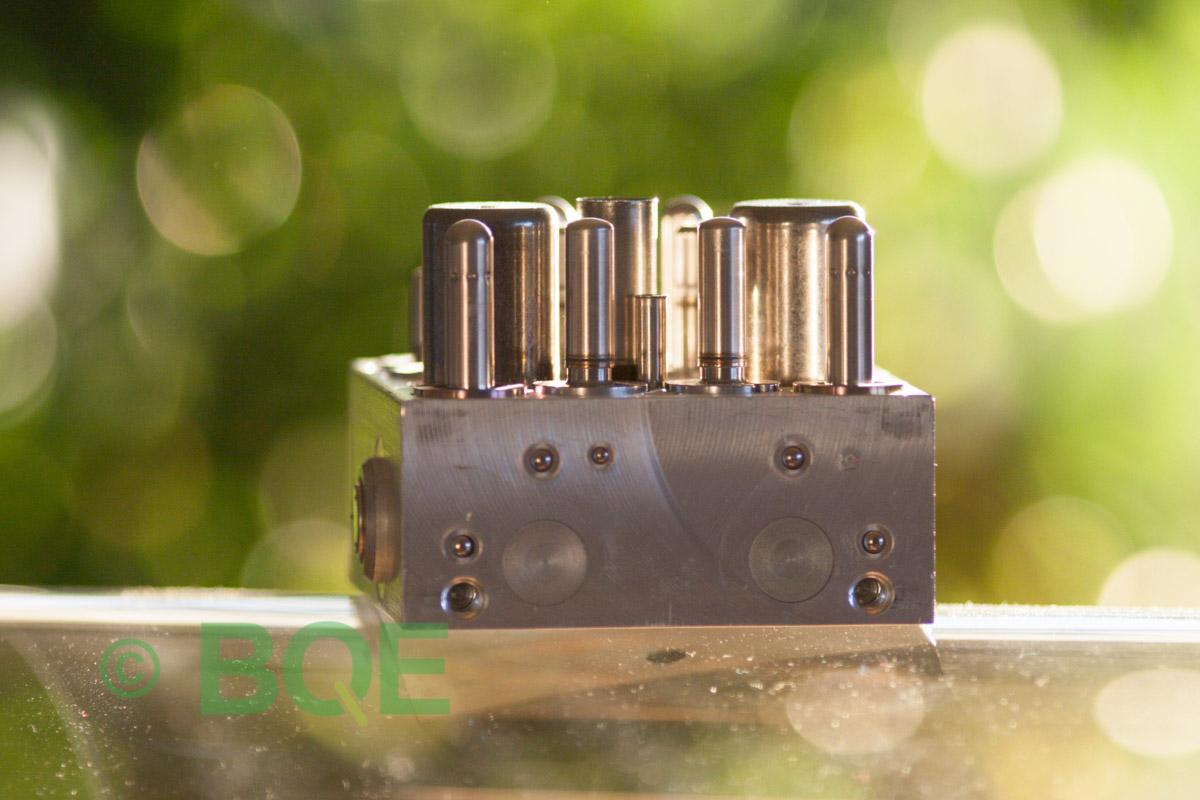 Skoda ABS/ESP ATE Mk60, Artnr: 10096003603, 1K0907379AA, 10020602204, 1K0614517T, Felkod: 01435, Bromstryckgivare G201, Hydraulblock, Vy: fäste
