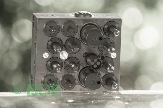 VW ABS/ESP ATE Mk60, Artnr: 10096003573, 1K0614517R, 10020601824, VW EcuNr=VW PumpNr, Felkod: 01435, Bromstryckgivare G201, Hydraulblock, Vy: sensorsida